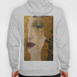 Golden Tears (Freya's Heartache) portrait painting by Gustav Klimt Hoody
