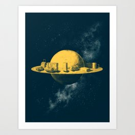 About space travels and living on Mars Art Print