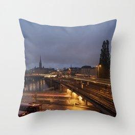 Stockholm Nights Throw Pillow