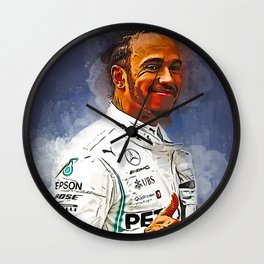 Lewis Hamilton Wall Clock