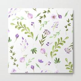 Purple Flower Field Metal Print