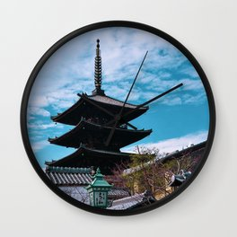 Pagoda in Kyoto, Japan photography  Wall Clock