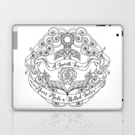 Anchor Tattoo Color Your Own Art Skilled Sailor Quote Laptop & iPad Skin