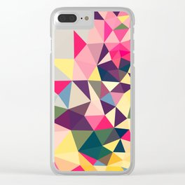 Creeping Tris Clear iPhone Case