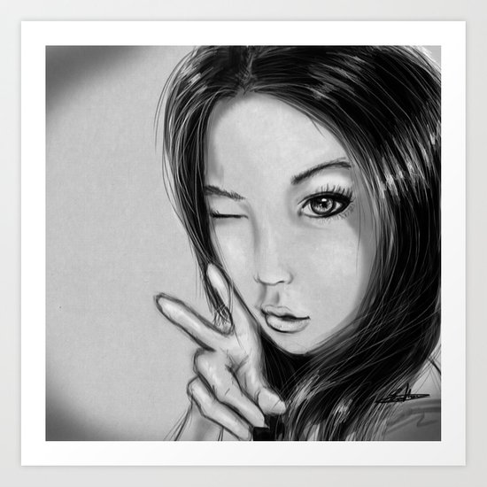 Japan Girl Art Print