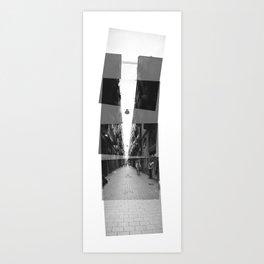 sky | light | bike | pavement Art Print