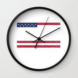 American Flag Dreamin MLK Quote Wall Clock