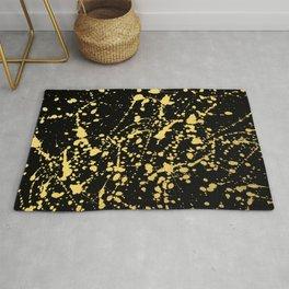 Splat Gold on Black Rug