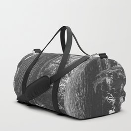 Forest Wonderland - Black and White Nature Photography Duffle Bag