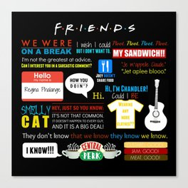 Friends Quote Collage Canvas Print