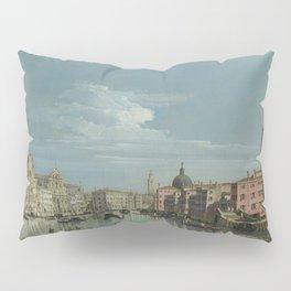 Venice: The Grand Canal facing Santa Croce by Bernardo Bellotto Pillow Sham