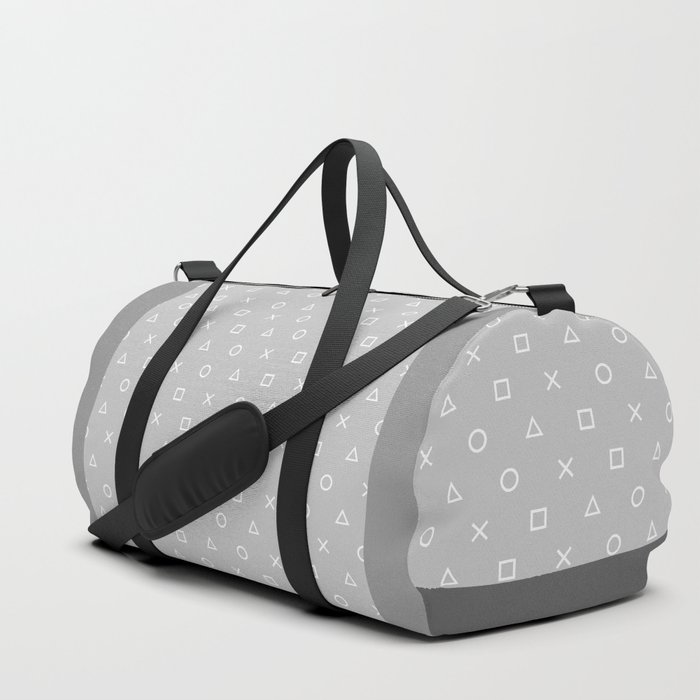 Grey Gamer Duffle Bag