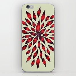Abstract Red Flower Doodle iPhone Skin