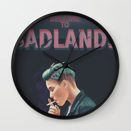WELCOME TO BADLANDS Wall Clock