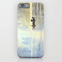 Misty Sunrise Over The Lake iPhone Case