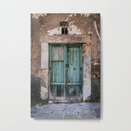 Green Door II Metal Print