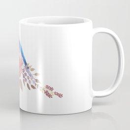 Eastern bluebird on red roses Coffee Mug
