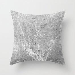 Concrete Flame Throw Pillow