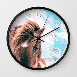 Horse horseshoes Wall Clock