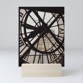 Passing of time in sepia tones. View from the Musée d'Orsay in Paris. Mini Art Print