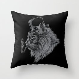 High Class Cat Throw Pillow