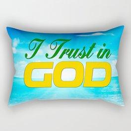 I Trust in God Rectangular Pillow