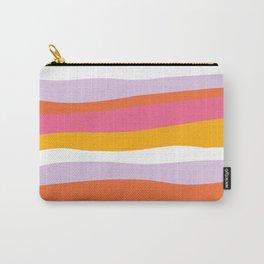 cali beach stripes Carry-All Pouch