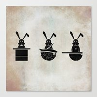 rabbits Canvas Prints featuring rabbits by gazonula