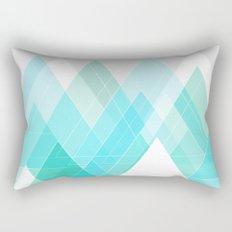 Icy Grey Mountains Rectangular Pillow