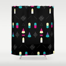 Play on Black Shower Curtain