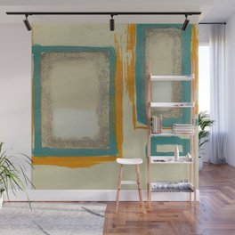Soft And Bold Rothko Inspired - Corbin Henry Modern Art - Teal Blue Orange Beige Wall Mural