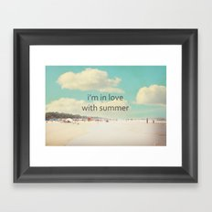 i'm in love with summer Framed Art Print