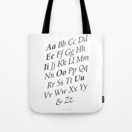 Classy Alphabet Tote Bag