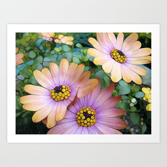 Glowing Gerbera's Art Print