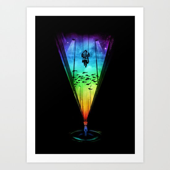 Swinging Away Art Print