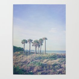 Seven Palm Trees Poster