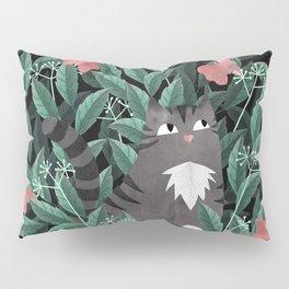 Butterfly Garden (Tabby Cat Version) Pillow Sham