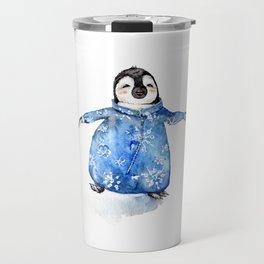 Baby Penguin in Onsie Travel Mug