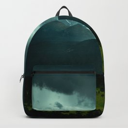 Gloomy Landscape Secret Green Field Backpack