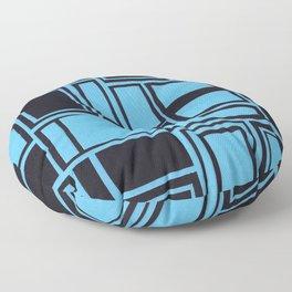 Windows & Frames - Blue Floor Pillow