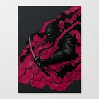 ninja Canvas Prints featuring Ninja by Pigboom Art