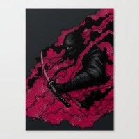 ninja Canvas Prints featuring Ninja by pigboom el crapo