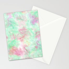 Tangled Green Fireworks Stationery Cards