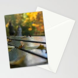 NYC Park Bench Stationery Cards