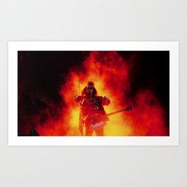 The Demon Rises Art Print