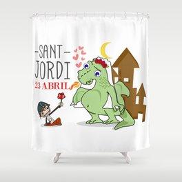 Sant Jordi Shower Curtain