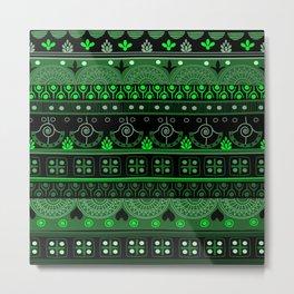 Boho Geometric Pattern Var. 12 Metal Print