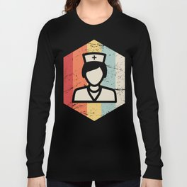 Vintage 70s Nurse Icon Long Sleeve T-shirt