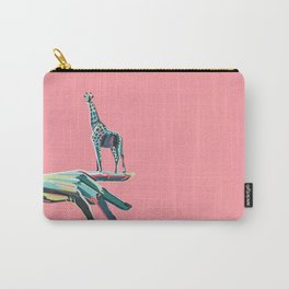 World in your hand - Giraffe Carry-All Pouch