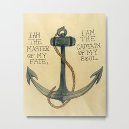 Invictus Anchor  Metal Print